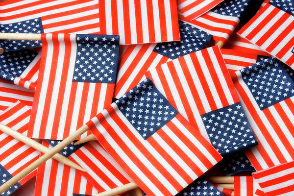 Photograph - American Flag Background by Jill Lang