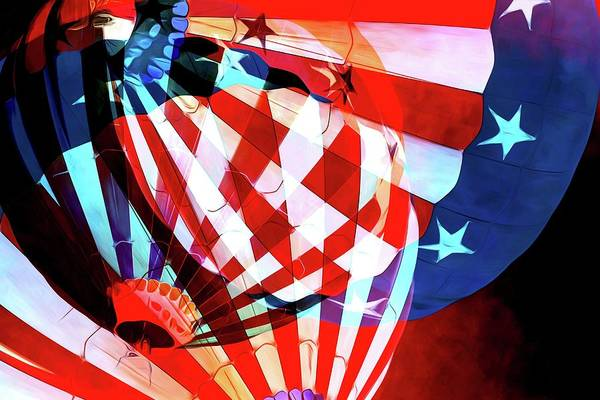 Photograph - American Flag Balloon Abstracted by Alice Gipson