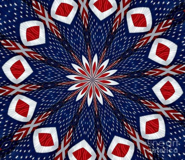 Photograph - American Flag Kaleidoscope Abstract 2 by Rose Santuci-Sofranko