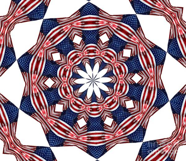 Photograph - American Flag Kaleidoscope Abstract 3 by Rose Santuci-Sofranko