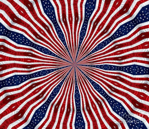 Photograph - American Flag Kaleidoscope Abstract 6 by Rose Santuci-Sofranko