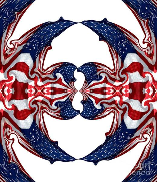 Photograph - American Flag Polar Coordinate Abstract 1 by Rose Santuci-Sofranko