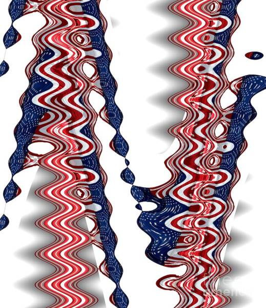 Photograph - American Flag Zig Zag Wave Abstract 1 by Rose Santuci-Sofranko