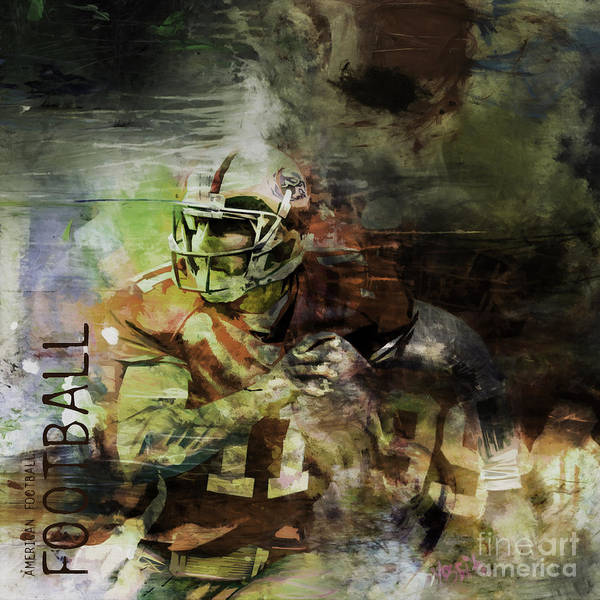 Wall Art - Painting - American Football 023 by Gull G