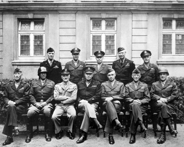 Wwii Photograph - American Generals Wwii  by War Is Hell Store