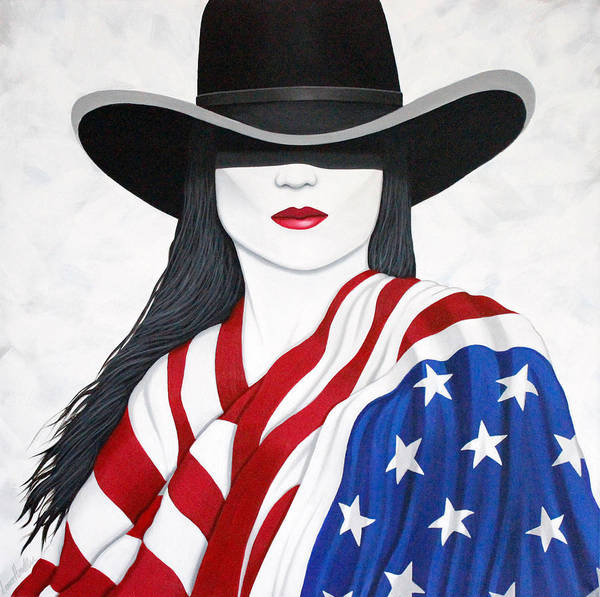 Wall Art - Painting - American Girl by Lance Headlee