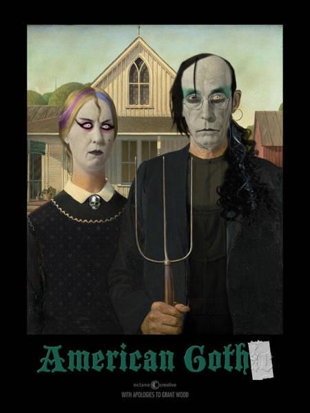 Digital Art - American Goth by Tim Nyberg