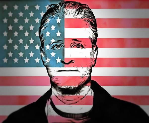 Wall Art - Digital Art - American Icon Jon Stewart by Dan Sproul