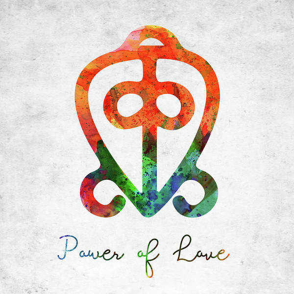 Divine Love Wall Art - Digital Art - American Indian Symbol - Power Of Love by Mihaela Pater