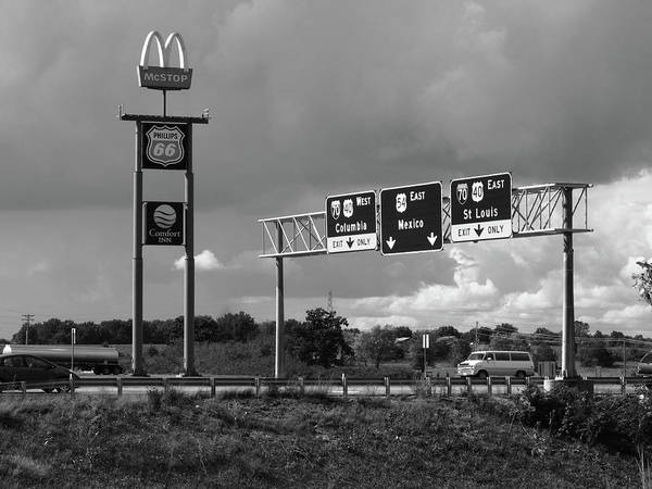 Photograph - American Interstate - Missouri I-70 Bw 2 by Frank Romeo