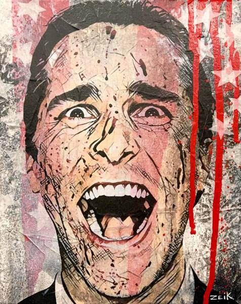 Psycho Painting - American Made by Bobby Zeik