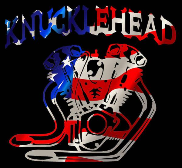 Wall Art - Digital Art - American Made Knucklehead by Michael Bergman