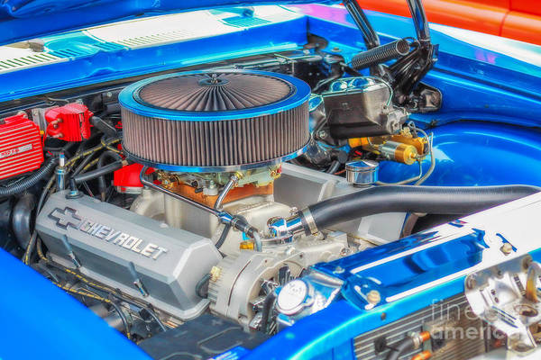 V8 Engine Photograph - American Muscle Car Engine by Randy Steele
