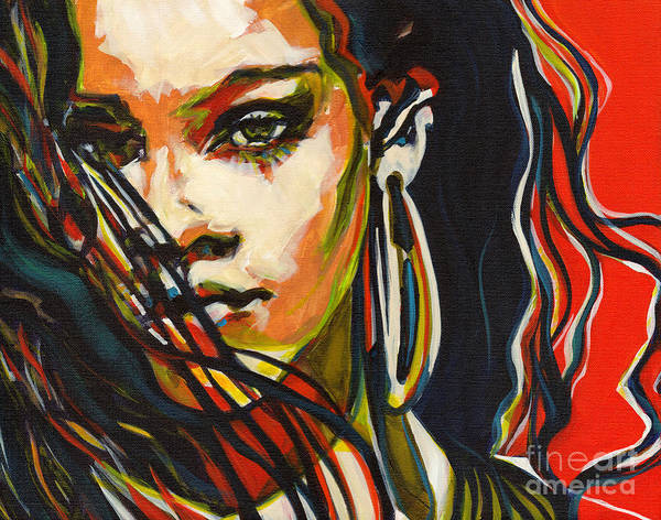 Painting - American Oxygen - Rihanna by Tanya Filichkin