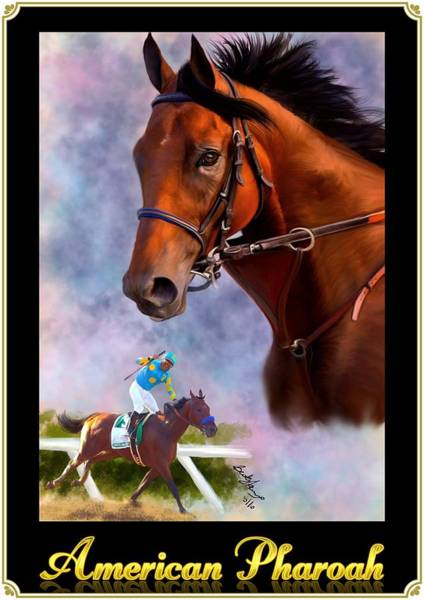 Painting - American Pharoah Framed by Becky Herrera