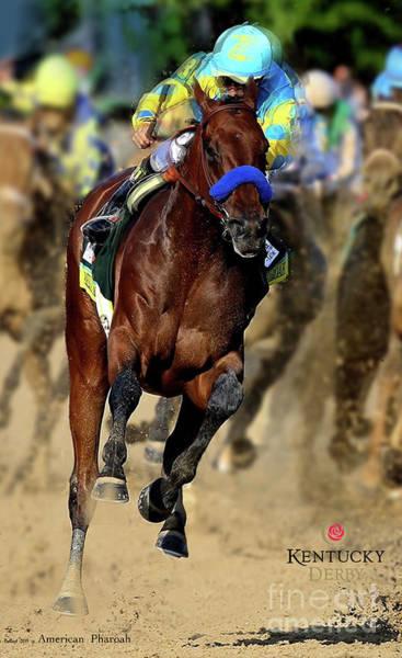 St Louis Cardinals Mixed Media - American Pharoah, Kentucky Derby, 2015 by Thomas Pollart