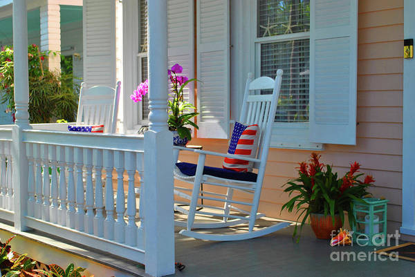 Photograph - American Porch by Jost Houk
