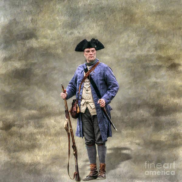 Wall Art - Digital Art - American Revolution Colonial Militia Soldier by Randy Steele