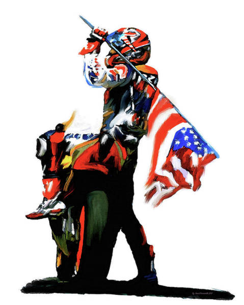 Wall Art - Painting - American Revolution Four Nicky Hayden by Iconic Images Art Gallery David Pucciarelli