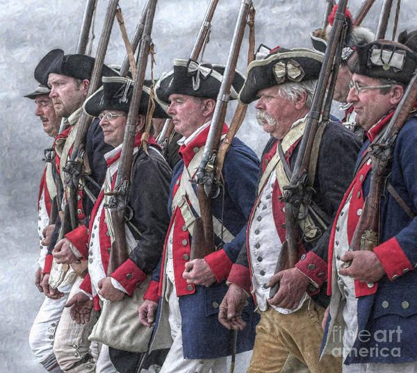 Frontier Digital Art - American Revolutionary War Soldiers by Randy Steele