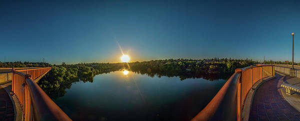 Photograph - American River At Sunrise - Panorama by Jonathan Hansen