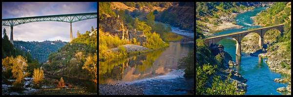 Photograph - American River Triptych 2 by Sherri Meyer