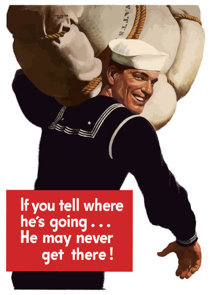 American Sailor -- Ww2 Propaganda Art Print