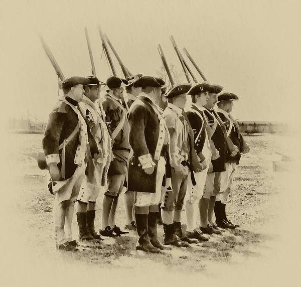 Photograph - American Soldiers At Fort Mifflin by Bill Cannon