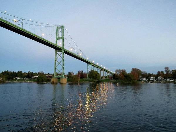 Photograph - American Span Thousand Islands Bridge by Dennis McCarthy