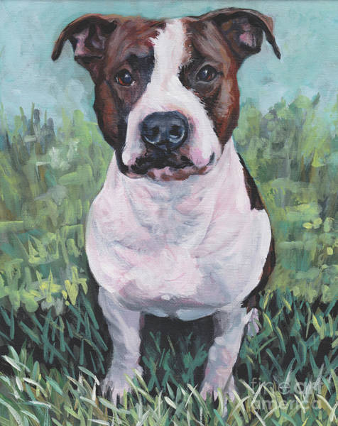 Wall Art - Painting - American Staffordshire Terrier by Lee Ann Shepard