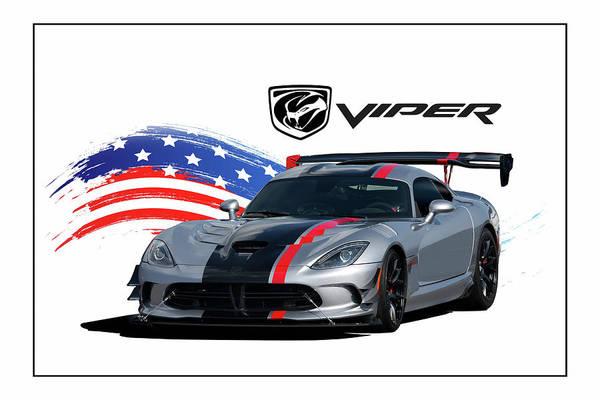 Wall Art - Digital Art - American Venom by Peter Chilelli