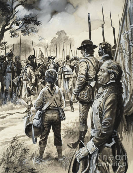 Southern Pride Wall Art - Painting - American War Of Independence by Gerry Embleton