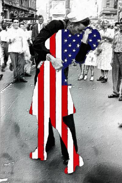 Painting - American Woman Acrylic by Tony Rubino