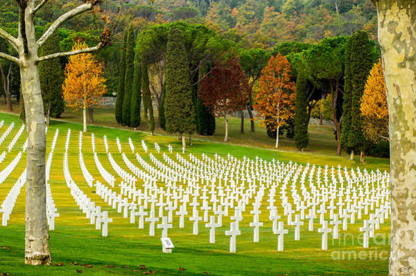 Photograph - American Ww II Cemetery by Prints of Italy