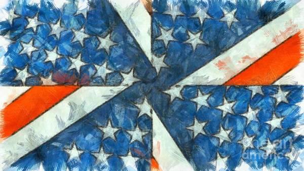 Wall Art - Digital Art - Americana Abstract by Edward Fielding