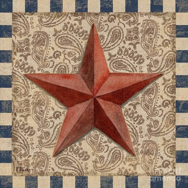 Wall Art - Painting - Americana Barn Star I by Paul Brent