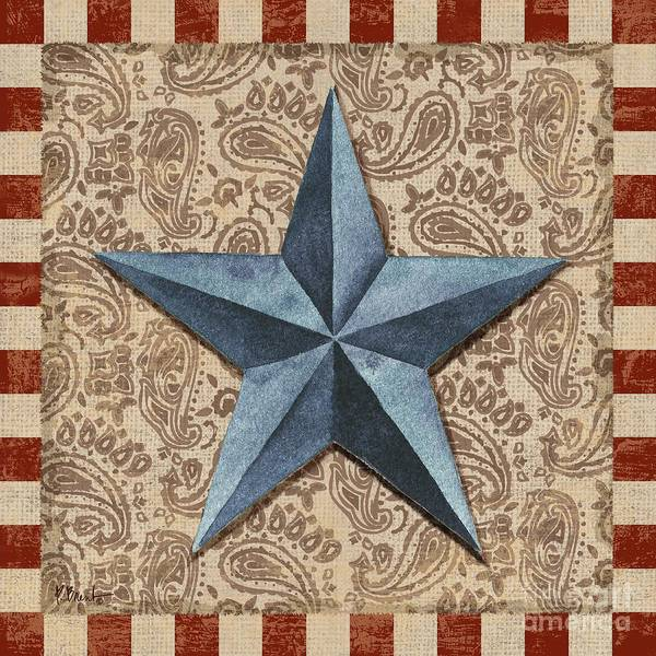 Wall Art - Painting - Americana Barn Star II by Paul Brent