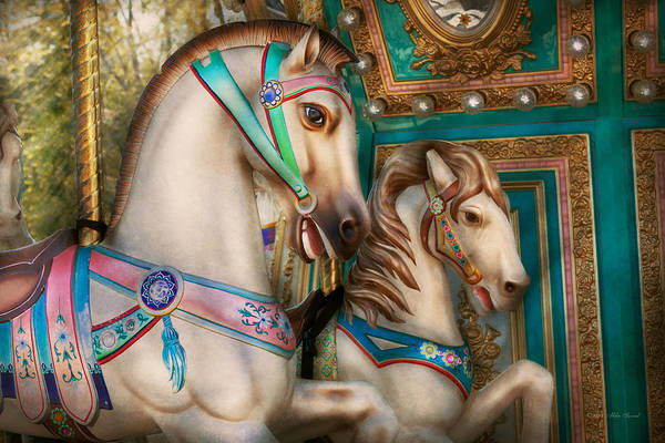 Photograph - Americana - Carousel Beauties by Mike Savad