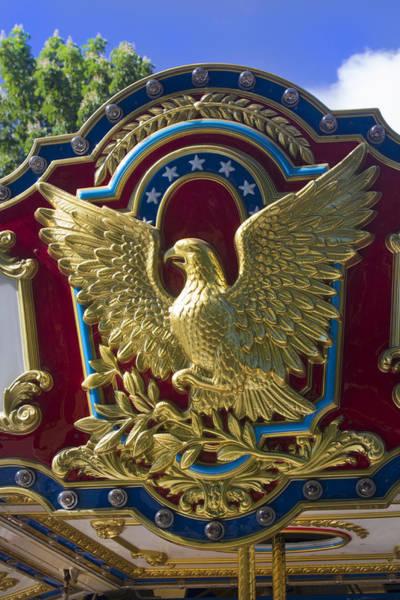 Photograph - Gold Leaf Eagle - Americana Series 01 by Carlos Diaz