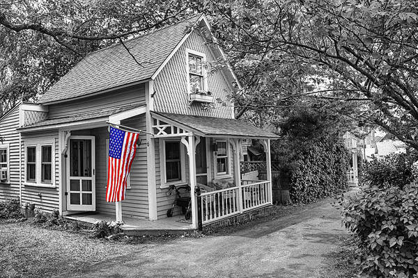 Photograph - Americana Series 08-bw by Carlos Diaz