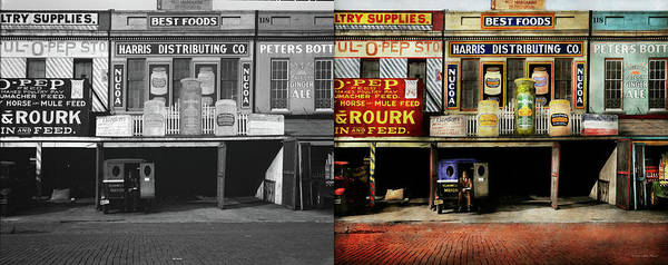 Photograph - Americana - Signs - Feeding Time 1936 - Side By Side by Mike Savad