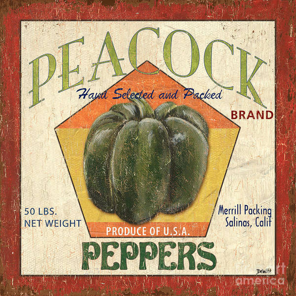 U S Painting - Americana Vegetables 1 by Debbie DeWitt