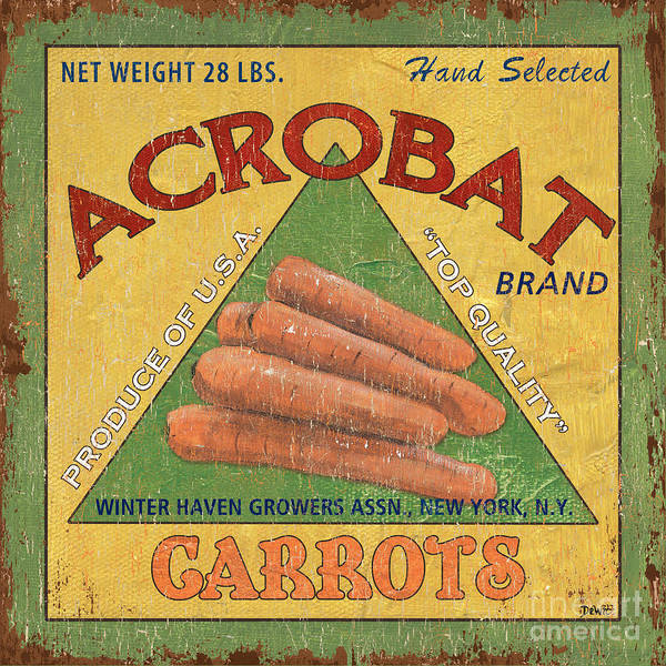 Label Painting - Americana Vegetables 2 by Debbie DeWitt