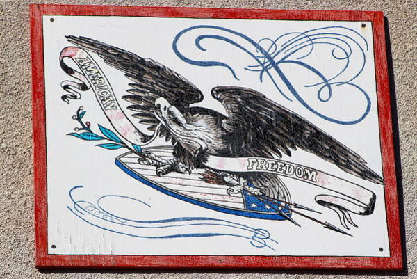 Photograph - Americana Vintage Eagle Sign by Colleen Cornelius