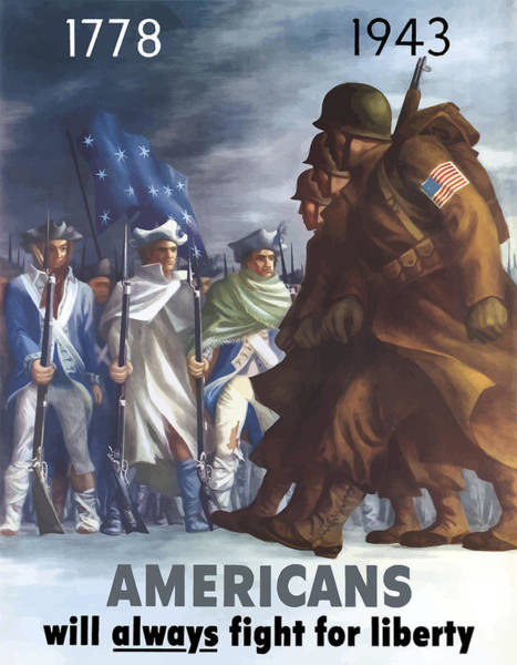 Wall Art - Painting - Americans Will Always Fight For Liberty by War Is Hell Store