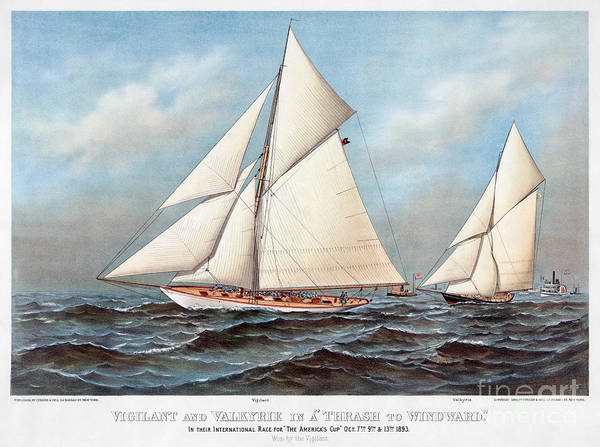 Photograph - Americas Cup, 1883 by Granger
