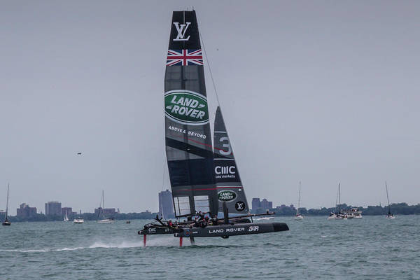 Photograph - America's Cup Trial by Sue Conwell