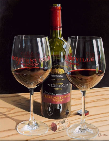 Tasting Painting - America's Nebbiolo by Brien Cole
