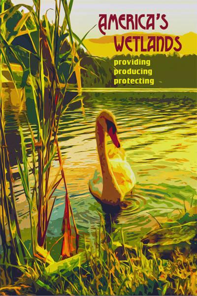 Digital Art - Americas Wetlands by Chuck Mountain