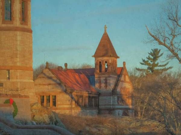Painting - Ames Free Library At Solstice by Bill McEntee